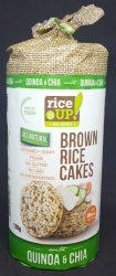 Rice Up Barna Rizses Chia Magos & Quinoás Puffasztott Szelet 120 Gr. (1X12)