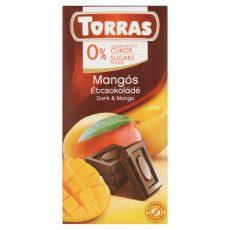 TORRAS Mangós Glutén És Cukormentes Étcsokoládé 75 G