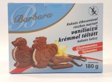Barbara Kakaós bevonóval mártott vanília ízzel töltött kakaós keksz 180 gr.