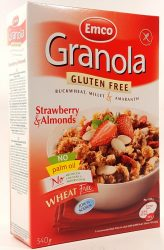 Emco Granola Buckwheat , Millet & amaranth Strawberry & Almonds  340g