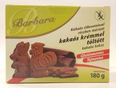 Barbara Kakaós Bevonóval Mártott Kakaós Ízzel Töltött Kakaós Keksz 180 Gr.