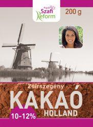 Szafi Reform Zsírszegény Holland Kakaópor (10-12% Kakaóvaj Tartalom) 200 G