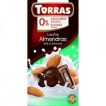TORRAS gluténmentes diabetikus mandulás tejcsokoládé hozzáadott cukor nélkül 75 g