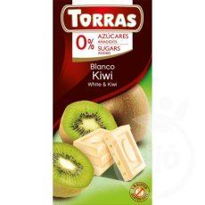 TORRAS gluténmentes diabetikus kiwis fehércsokoládé hozzáadott cukor nélkül 75 g