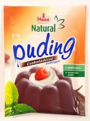 Haas Natural Puding Csokoládéízű Pudingpor 44G