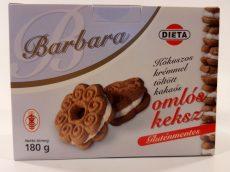 Barbara kókuszos krémmel töltött kakaós omlós keksz 180g