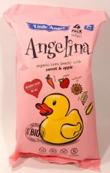 Angelina organic corn snack with carrot & apple - kukorica snack