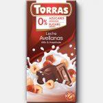 TORRAS gluténmentes diabetikus mogyorós tejcsokoládé hozzáadott cukor nélkül 75 g