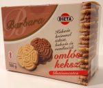 Barbara kakaós krémmel töltött kakaós és vanília ízű omlós keksz