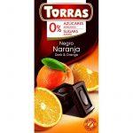 TORRAS Narancsos Hozzáadott Cukormentes Étcsokoládé (Gluténmentes, cukormentes, tejmentes)) 75 G