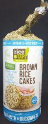 Rice Up Barna rizses hajdínás & amarántos puffasztott szelet 120 gr. (1X12)
