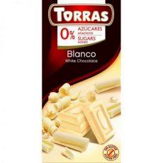 TORRAS Fehércsokoládé Hozzáadott Cukor Nélkül 75G